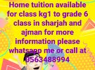 tuition kg1 to grade 6