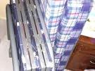 heavy steel Folding bed with Folding Mattres سرير قابل للطي من الصلب الثقيل مع مرتبة قابلة للطي