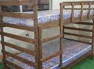 سرير طابقين ( تخت ) خشب صلد عرض