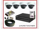 كاميرات مراقبة وأنظمة الحماية