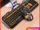Gaming Keyboard and Mouse Wired Metal Keyboard RGB Backlight Keyboard Mouse Comb