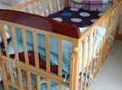 Wooden Baby Crib - Perfectly new condition