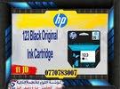 حبر HP طابعة - HP 123 Black INK , PRINT 120 PAGE