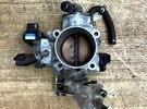 throttle body with the sensor and intake hose