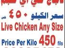 دجاج الرابطة من مزارعنا فقط سعر الكيلو 450 فلس بدلا من 850 فلس