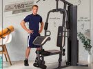 Marcy homegym with 70kg weight stack