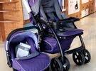 عربة اطفال وكرسي سياره جديده استخدام قليل جدا داخل المنزل