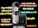 تلفون نقال ارضي Panasonic KX-TG6821