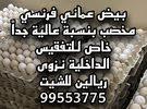 بيض دجاج عماني وفرنسي