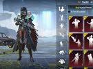Pubg Blood Raven X suit with emote + M4 Glacier combo account