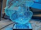 LED Acrylic Figure Stand