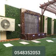 تنسيق الحدائق 0548352053شلالات نوافير عشب صناعي