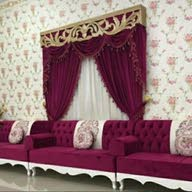 Curtains and furniture
