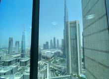 دبي الداون تاون غرفتين وصاله مفروشه سوبر لوكس للايجار الشهري