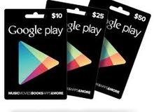 يمكنك شراء بطائق جوجل بلاي امريكي شحن عبر الأيدي فري فاير ببجي كل اف ديوتي