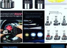 Car LED headlight, 100 watt original/ مصباح سيارة LED ، 100 واط الأصلي