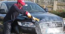 مطلوب عامل لديه خبرة في غسيل السيارات