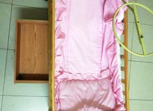 Baby wooden cradle for sale