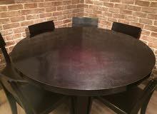 طاولة طعام مع كراسي عدد 6