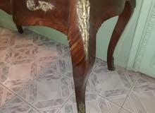 مكتب خشب زان مطعم بالنحاس