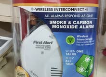 كاشف الدخان اللاسلكي  First Alert wireless smoke &  Carbon monoxide alarm
