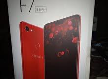 تليفون اوبو f7 معاه العلبه  التليفون  شغال  بدون اي اعطال 64 جيجا 4 جيجا رام