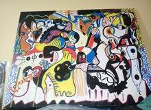 لوحة فنية بعنوان المدينة تحت العيون