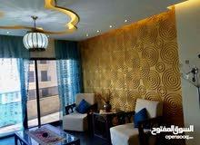 شقةً فاخرة مفروشة 170 متر مربع نظيف جدا مع ديكورات ام السماق قرب مطعم ورد شارع المدينة