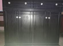 خزانة احذية اربع ابواب و درجين