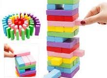 لعبة المكعبات الخشبيه المسليه للكبار والصغار