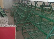 طاولات مفصلات حديد لدكان خضروات