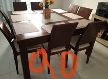 dining table  with 8 chairs I a good condition