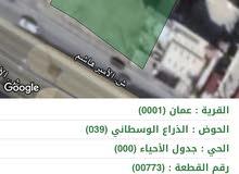 ارض 1001م للبيع/عبدون بالقرب من جسر الياسمين