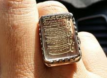 خاتم در النجف من الفضة بصياغة راقية