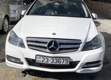 White Mercedes Benz C 200 2013 for sale