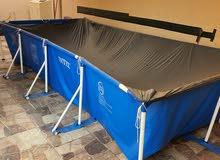 بركة سباحة منزلية جديده مع ملحقاتها كاملة حجمها مناسب لجميع الأعمار