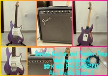 Samick Guitar and Fender Amplifier in good condition
