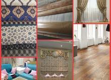 parquet,carpets,cartain, sofa etc.