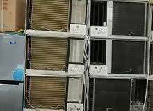 للبيع جميع انواع المكيفات الشباك مستعمله طيب حار بارد مع التوصيل والتركيب بضمان