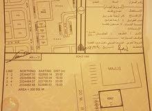 للبيع أرض سكني تجاري في جبرين 6 مساحة 300 متر شبة كونر