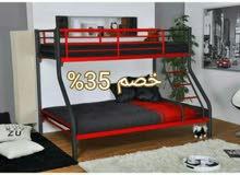 سرير بدورين حديد بخصم يصل الى 35% وابواب شقق حديد مشغول ضدالكسر