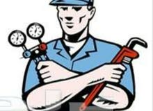 تكيف تركيب تنضيف صيانة وتعبإت غاز وهدا رقمي 0917379487