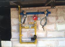 تركيب وتمديد انابيب الغاز وتركيب اجهزه إنذار الحريق بيع وصيانه طفايات الحريق