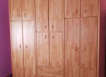 خزانة 6درف طابقين خشب لاتيه 18م كاملة