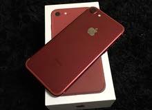 ايفون 7 احمر 128 جيبي