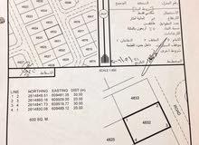 ارض للبيع في المعبيلة الجنوبية الثامنة بقرب من الشارع الرئيسي