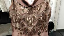 فستان خطبة وردي طويل للبيع