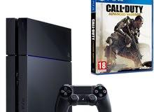 للبيع بليستيشن PS4 مستخدمه مع قير ولعبة للتواصل للجادين فقط