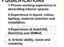 مصمم داخلي / interior designer
