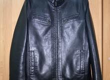 Men's natural leather jacket